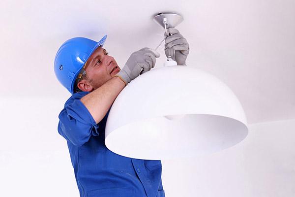 instalación lámparas